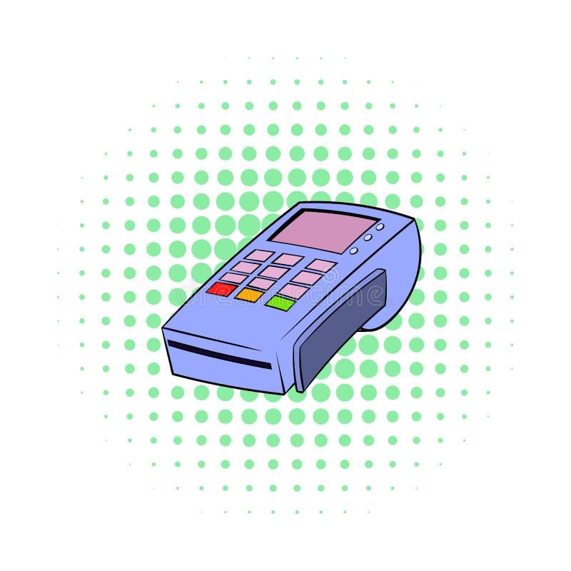 Terminal voor creditcardpictogram, strippaginastijl stock illustratie