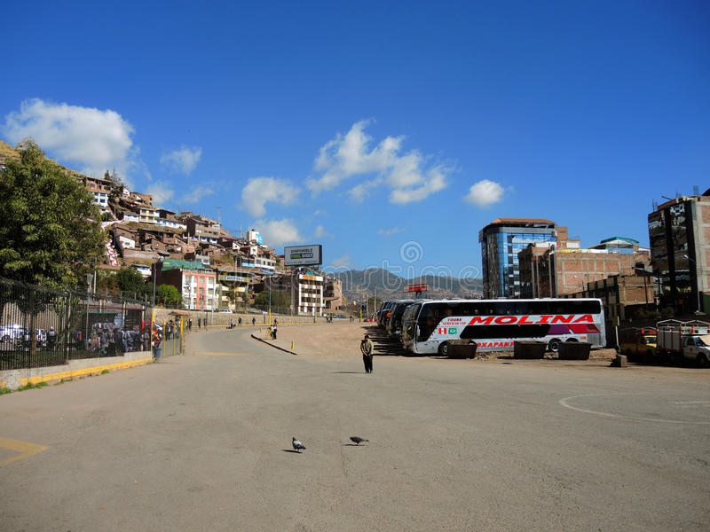 Terminal w Puno, Peru zdjęcia stock