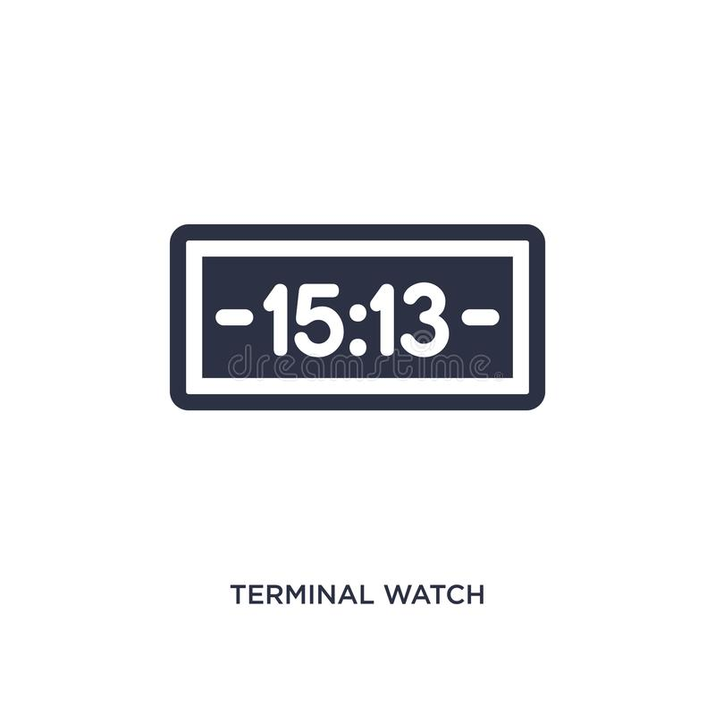 terminal watch icon on white background. Simple element illustration from airport terminal concept vector illustration
