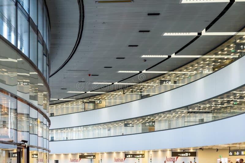 Terminal Wiedeń lotnisko międzynarodowe obrazy royalty free
