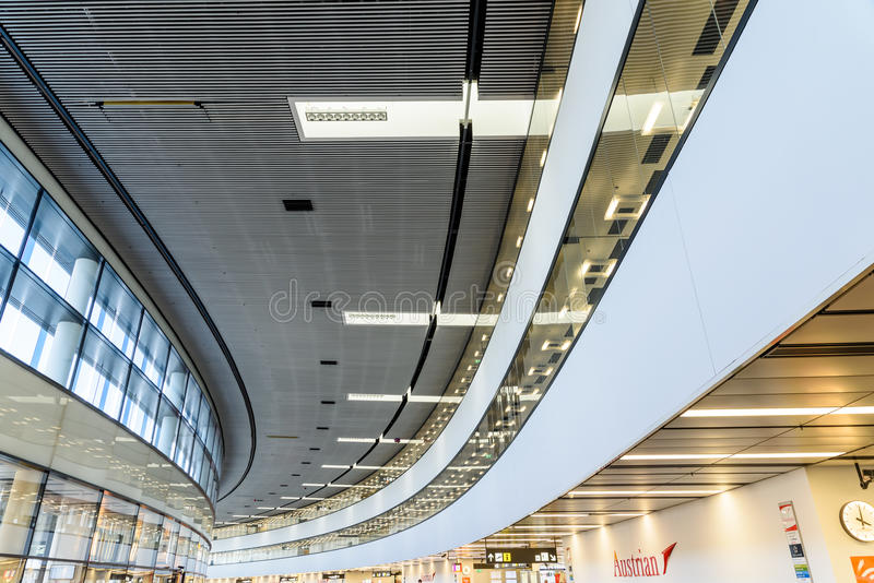 Terminal Wiedeń lotnisko międzynarodowe zdjęcia royalty free
