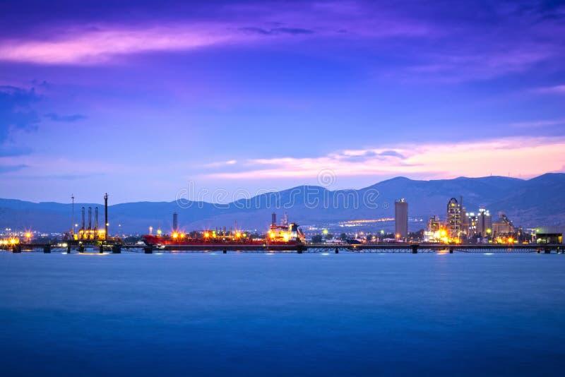 Terminale del gas & del petrolio immagine stock libera da diritti