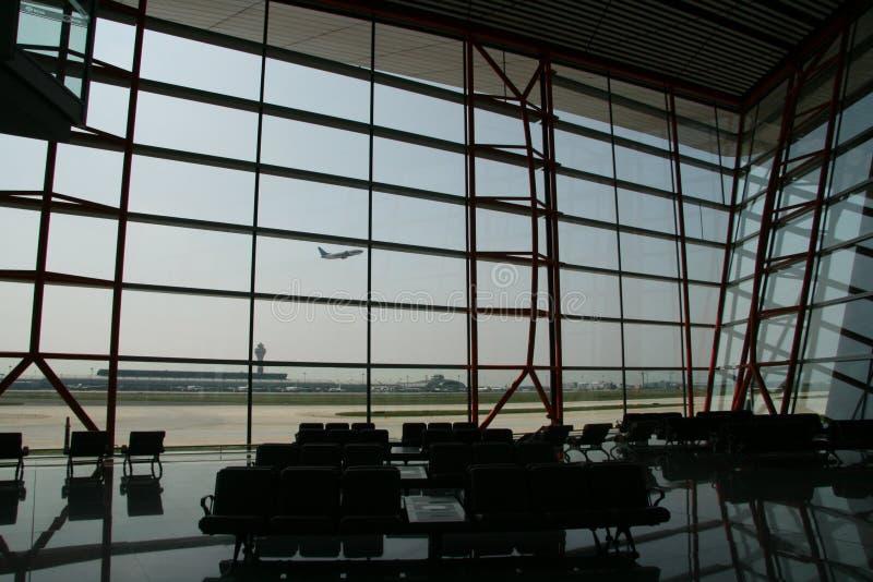 Terminale di aeroporto internazionale capitale di Pechino fotografie stock libere da diritti
