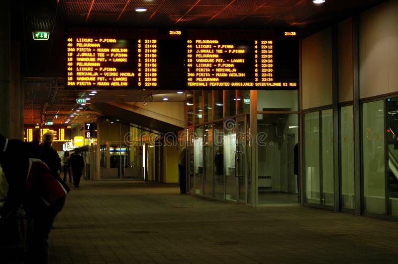 Terminale di bus fotografia stock