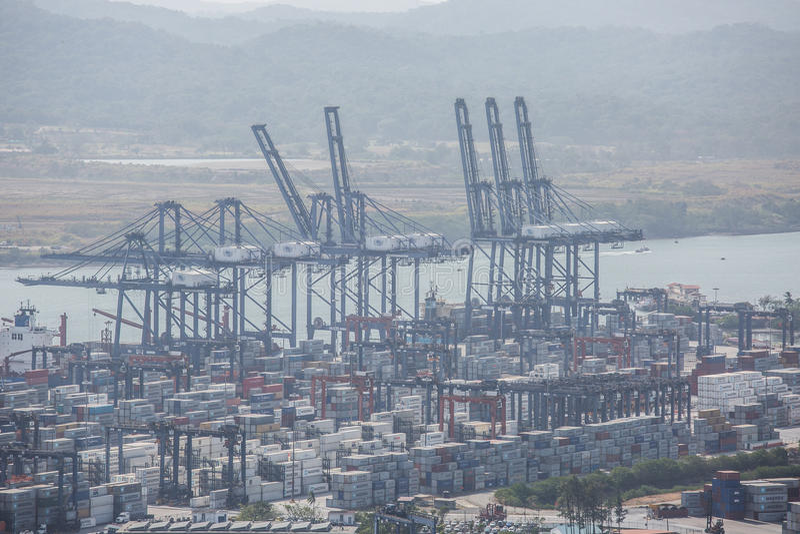 Terminale di contenitore del porto della balboa fotografia stock libera da diritti