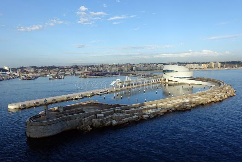 Terminale di crociera di Leixoes Oporto, Leixões, Matosinhos, Portogallo fotografie stock libere da diritti