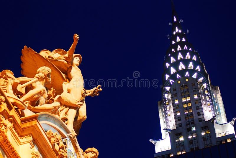 Terminale di Grand Central e l'edificio di Chrysler fotografie stock libere da diritti