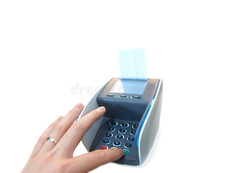 Terminale di pagamento immagini stock libere da diritti