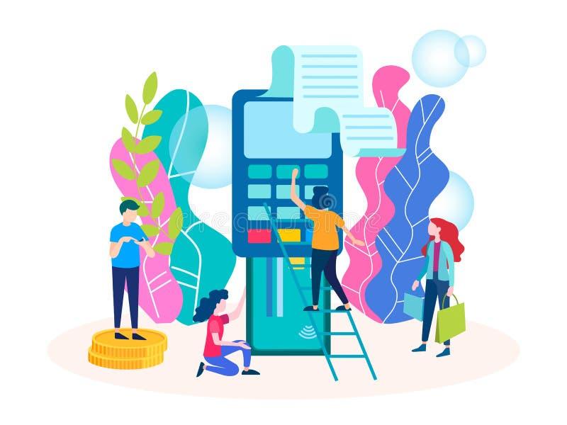 Terminale di pagamento di concetto illustrazione vettoriale