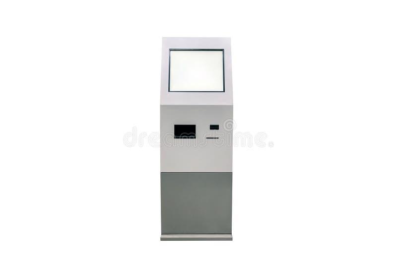terminales grises del pago en el fondo blanco foto de archivo libre de regalías