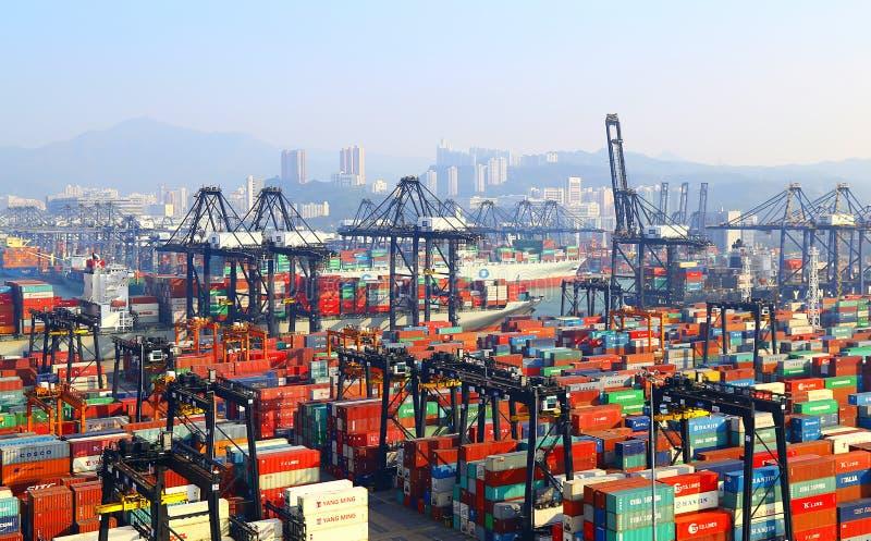 Terminali di contenitore moderni, Hong Kong immagine stock libera da diritti