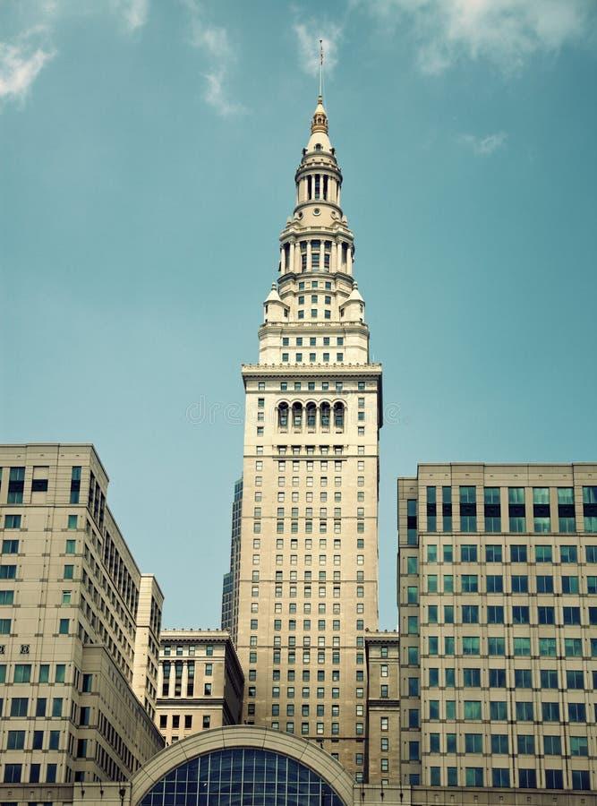 Terminalkontrollturm in Cleveland lizenzfreies stockbild