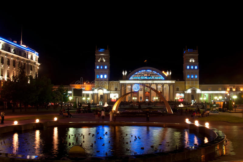 Terminalsüdstation, Kharkov, Ukraine stockfotos