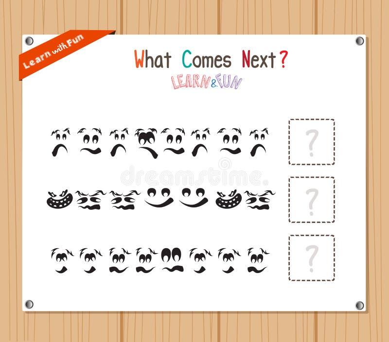 Terminando o jogo educacional do teste padrão para crianças prées-escolar ilustração do vetor