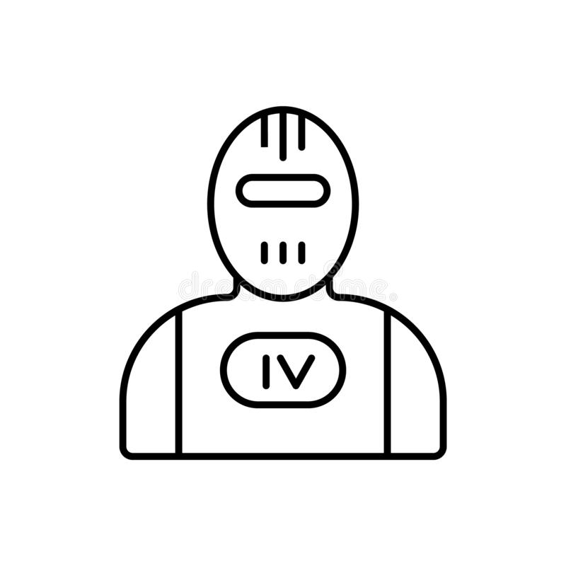 Terminator, robot icon - Vector. Artificial intelligence. On white background royalty free illustration