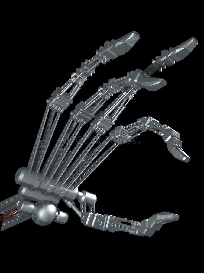 Terminator's hand stock illustration