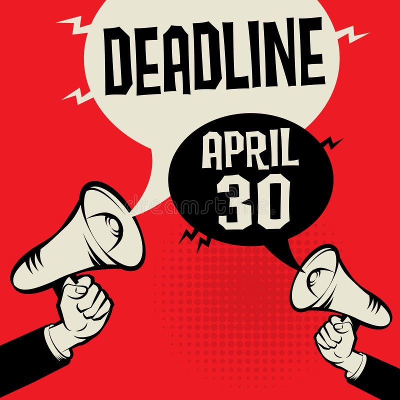Termine - 30 aprile illustrazione di stock
