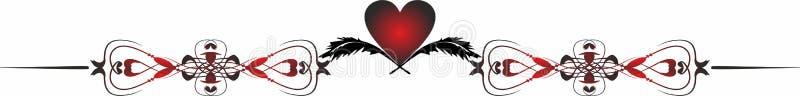 Termine a beira Valentine Icons para apps móveis do conceito e da Web ilustração stock