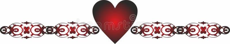 Termine a beira Valentine Icons para apps móveis do conceito e da Web ilustração royalty free