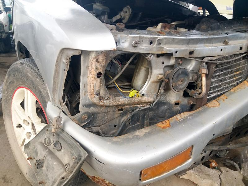 Termine dell'incidente stradale fotografia stock