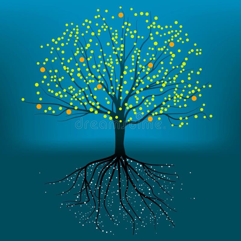 Termine el árbol (el vector) ilustración del vector