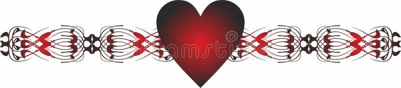 Termine la frontera Valentine Icons para los apps móviles del concepto y del web ilustración del vector