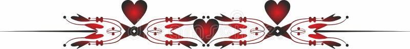 Termine la frontera Valentine Icons para los apps móviles del concepto y del web stock de ilustración