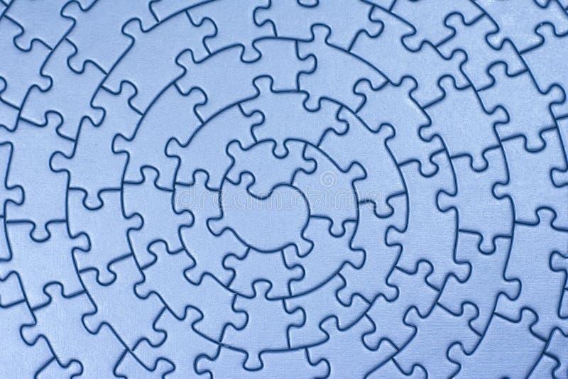 Termine los rompecabezas azules ilustración del vector