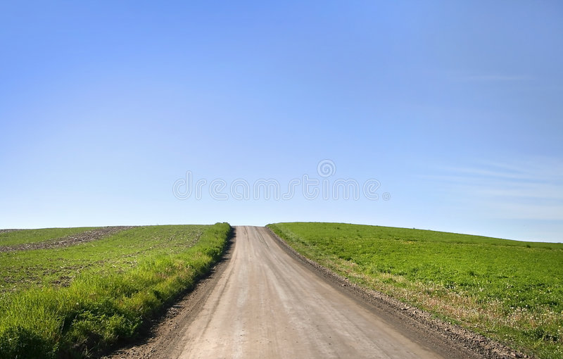 Termine menos estrada fotografia de stock