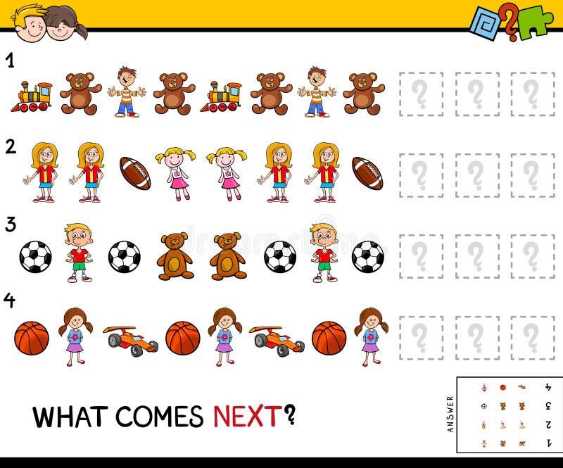 Termine o jogo educacional do teste padrão para crianças ilustração royalty free