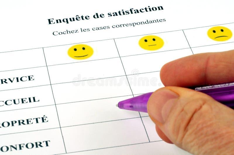 Termine una encuesta sobre la satisfacción imagen de archivo libre de regalías