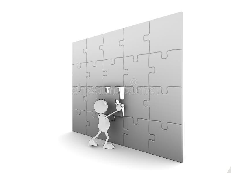 terminer le puzzle illustration libre de droits