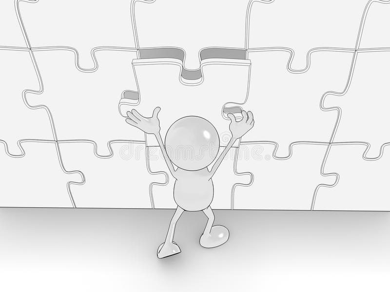 terminer le puzzle illustration de vecteur