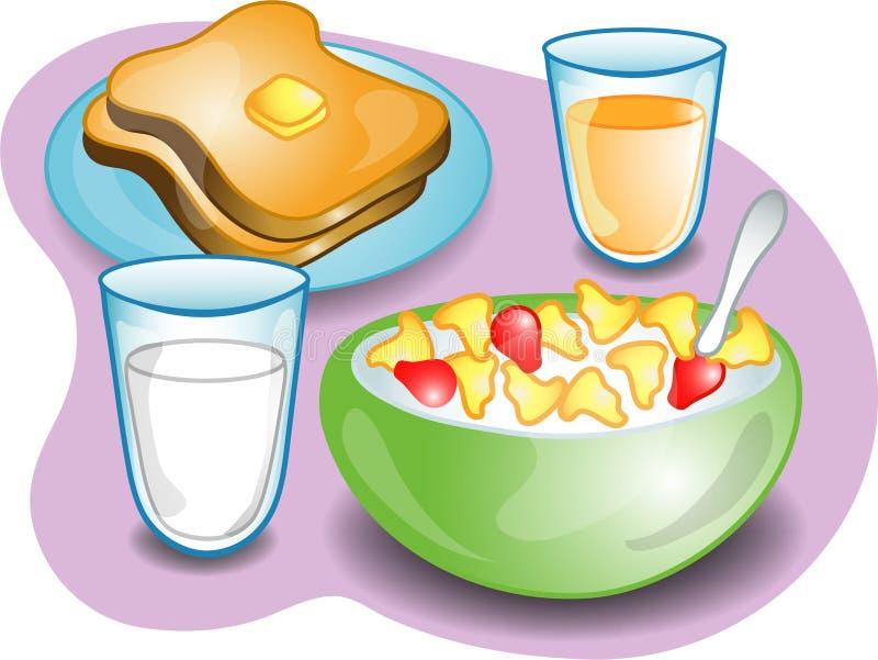 Terminez le déjeuner illustration de vecteur