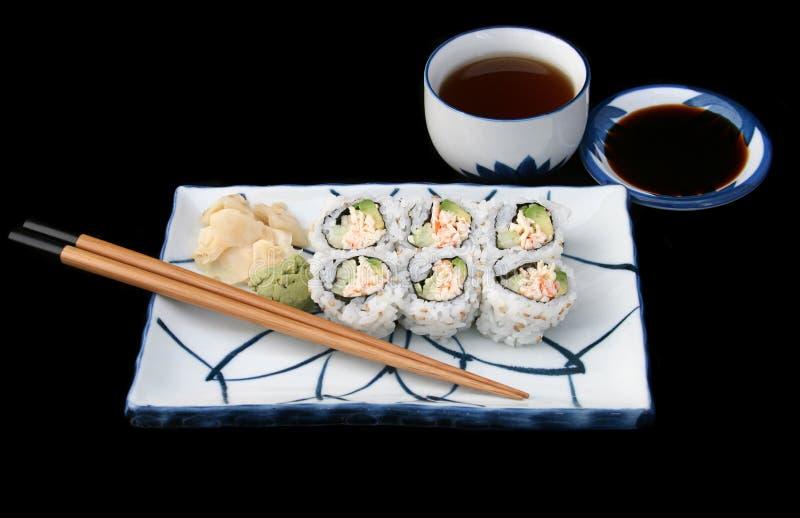 Terminez les sushi japonais images libres de droits