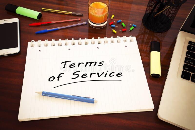 Termini di servizio illustrazione di stock