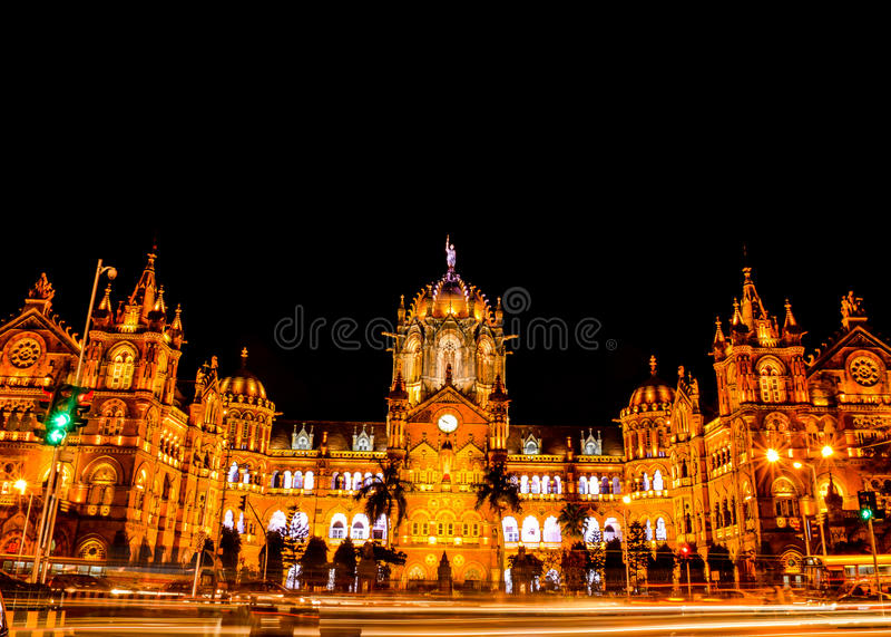 Terminus Chhatrapati Shivaji стоковая фотография rf