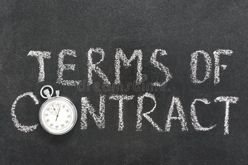 Terminy kontrakt zdjęcie stock