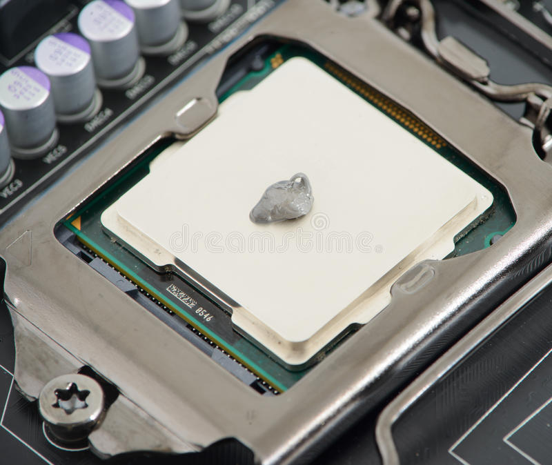 Termisk deg på CPU royaltyfria foton