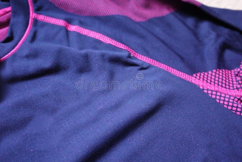 Termisk underkläder för sportar Detaljer material, närbild royaltyfri bild