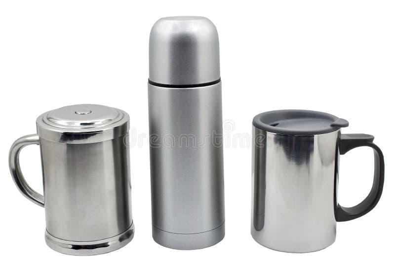 Termo del metal en blanco fotografía de archivo libre de regalías