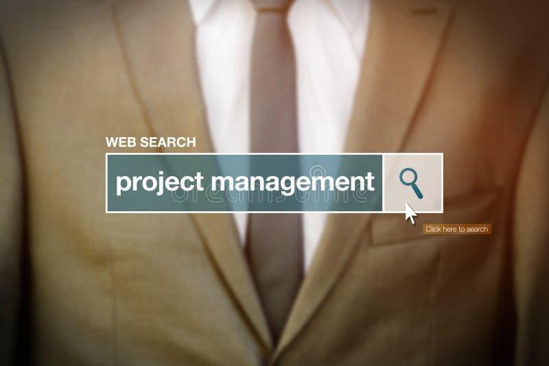Termo do glossário da barra da busca da Web - gestão do projeto fotografia de stock