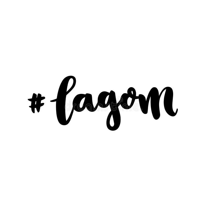 Termo escandinavo Sueco de Lagom - equilíbrio, moderação, apenas direito ilustração royalty free