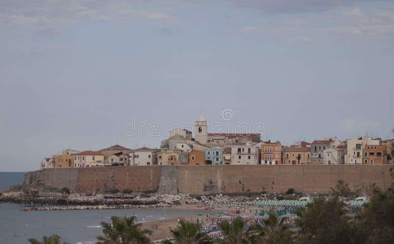 Termoli Molise, Campobasso Italië kustdorp royalty-vrije stock fotografie
