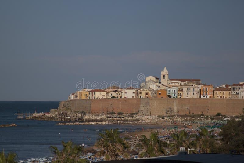 Termoli Molise, Campobasso Italië kustdorp stock fotografie