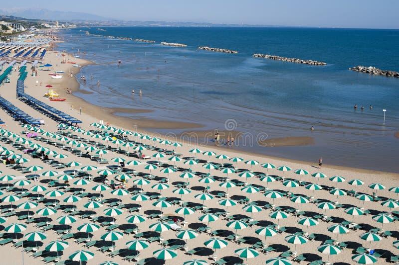 Termoli (Molise, Italy) - The beach at morning royalty free stock images