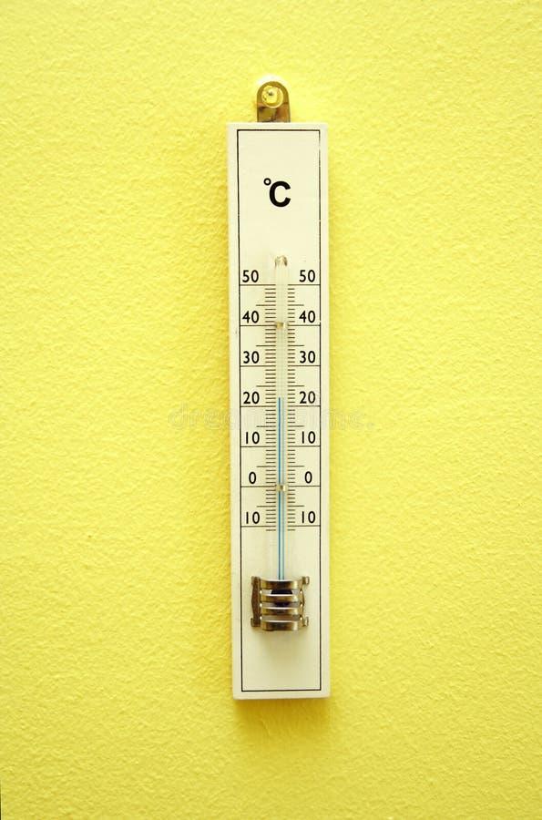 termometer空白木 库存图片