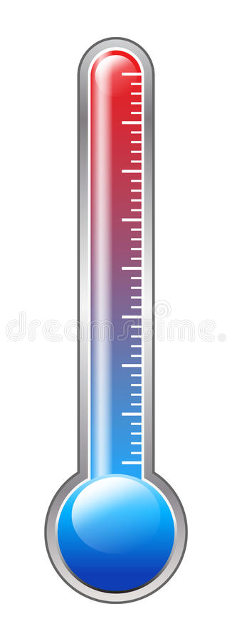 termometer stock illustrationer