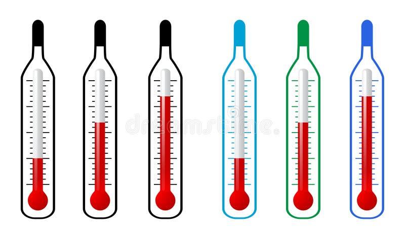 termometer royaltyfri illustrationer