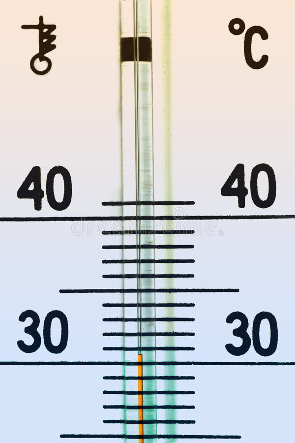 The termometer royalty free stock photo
